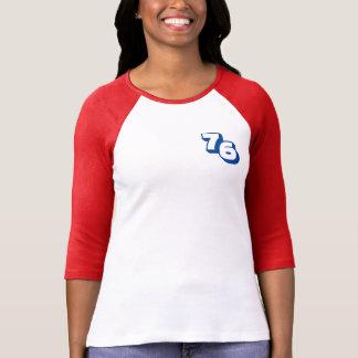 Year 1976 Women's Red Raglan T-Shirt Tシャツ