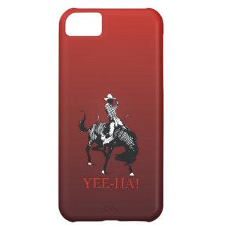 Yee Ha! 強く反対する馬の種馬のロデオのカウボーイ iPhone5Cケース