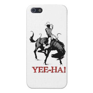 Yee Ha! 強く反対する馬の種馬のロデオのカウボーイ iPhone 5 ケース