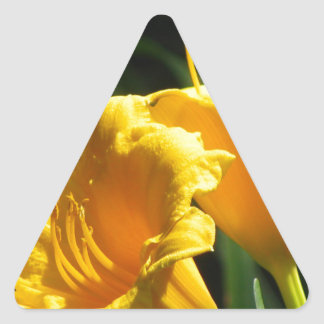 Yelloのユリ 三角形シール