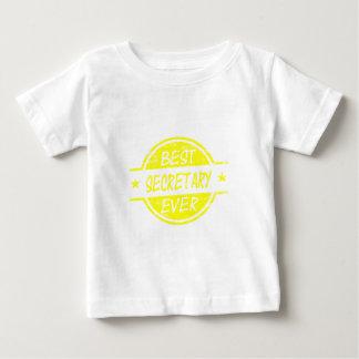 Yellow最も最高のな秘書 ベビーTシャツ