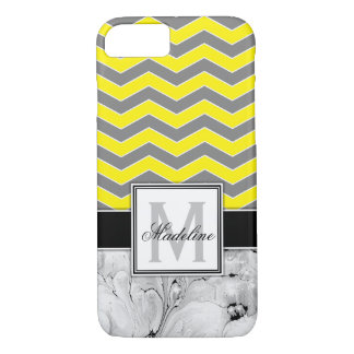 Yellow Chevron and Marble Monongram Mobile iPhone 8/7ケース