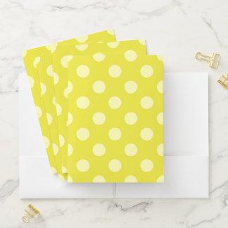 Yellow Polka Dot Pocket Folder ポケットフォルダー