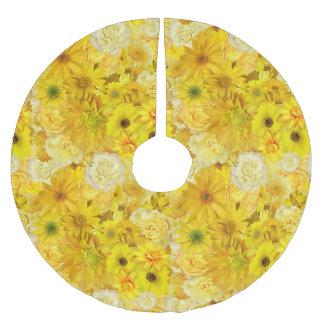 Yellow Rose Friendship Bouquet Gerbera Daisy ブラッシュドポリエステルツリースカート