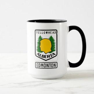 Yellowheadのハイウェー-エドモントン、アルバータ マグカップ