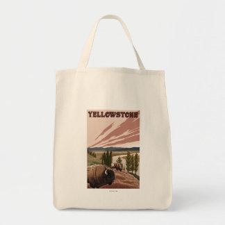 YellowstoneBison場面 トートバッグ