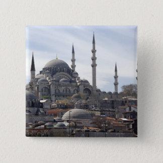 Yeniのモスク 5.1cm 正方形バッジ