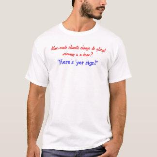 「yerの印はここにあります tシャツ
