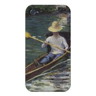 Yerresの川のカヌー-ギュスターブCaillebotte iPhone 4/4Sケース