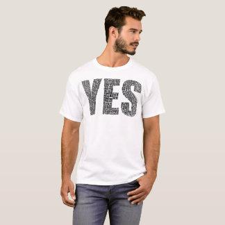 """""""Yesいいえ!"""" タイポグラフィのTシャツ Tシャツ"""
