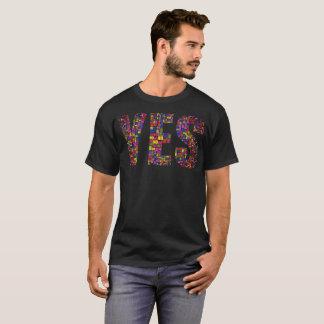 """""""Yesいいえ! V.2""""タイポグラフィのTシャツ Tシャツ"""