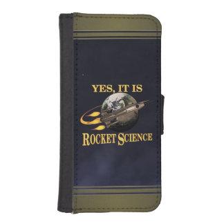 Yesそれはロケット科学です iPhoneSE/5/5sウォレットケース