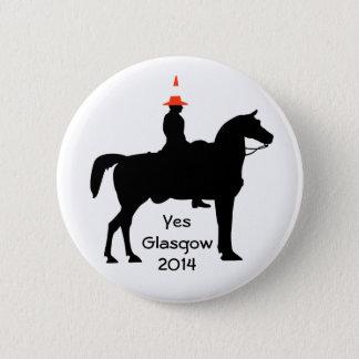 Yesのグラスゴースコットランドボタンのバッジ 缶バッジ