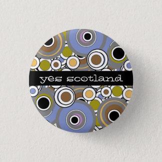 Yesのスコットランドのスコットランドの独立ボタンのバッジ 3.2cm 丸型バッジ