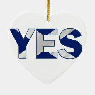 Yesのデザイン セラミックオーナメント