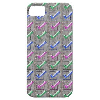 YESの陽性はパターンNVN173 NavinJOSHIおもしろいをなでます iPhone SE/5/5s ケース