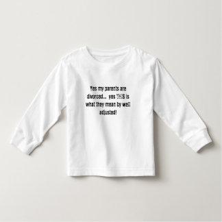 Yesは私の親これがwha…の離婚された… yesです トドラーTシャツ