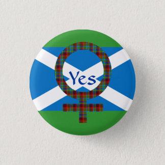 YesスコットランドPinbackのための#indyrefの女性 3.2cm 丸型バッジ