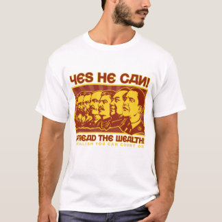 Yes彼はできます! オバマSpoof僚友 Tシャツ