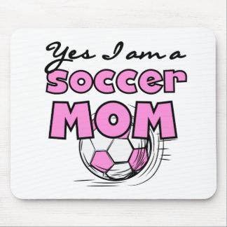 Yes私はサッカーのお母さんのTシャツおよびギフトです マウスパッド