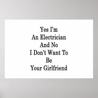 Yes私は電気技師であり、Yでありたいと思いません ポスター