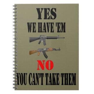 YES私達にそれらがあります ノートブック