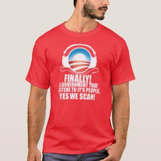 Yes私達は-反オバマNSAの詮策のスキャンダルをスキャンします Tシャツ
