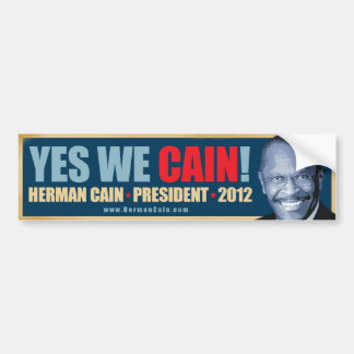 Yes私達カイン-ヘルマンカインの大統領 バンパーステッカー