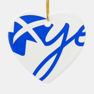 Yes -スコットランド、hアルバBratach naの旗 セラミックオーナメント