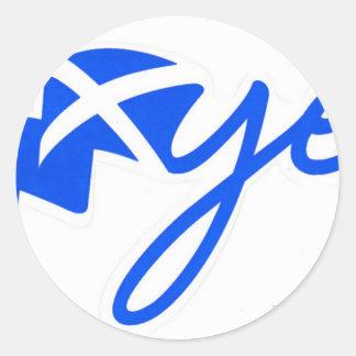 Yes -スコットランド、hアルバBratach naの旗 ラウンドシール
