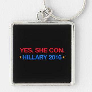 yes、彼女は騙します。 ヒラリー2016年 キーホルダー