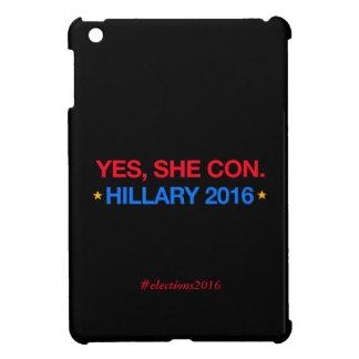 yes、彼女は騙します。 ヒラリー2016年 iPad mini カバー