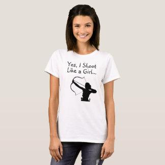 Yes、私は女の子の…弓狩りのように撃ちます Tシャツ