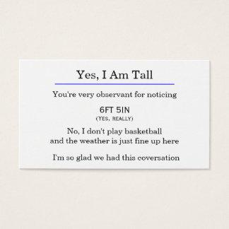 """Yes、私は高い""カードです 名刺"