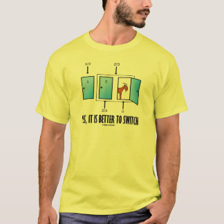 Yes、転換することはよいです(3つのドア1頭のヤギ) Tシャツ