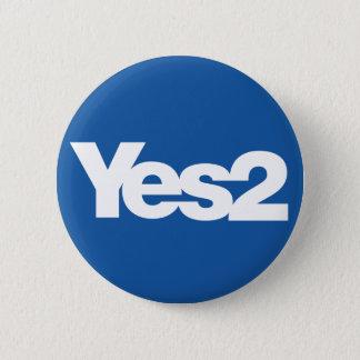 Yes 2の独立のためのスコットランドの国民投票のスコット 缶バッジ