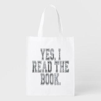 Yes Iは本の灰色を読みました エコバッグ