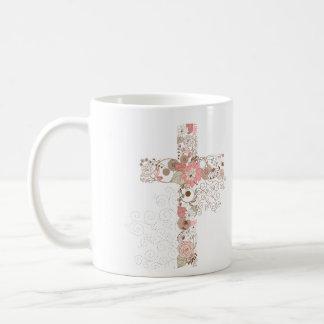 Yes I愛十字のマグのメッセージ ベーシックホワイトマグカップ