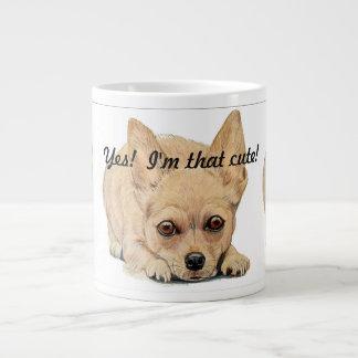 Yes, I'm that Cute! Chihuahua by Carol Zeock ジャンボコーヒーマグカップ