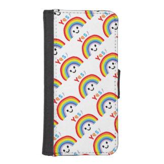 Yes! Rainbow Smile iPhoneSE/5/5sウォレットケース