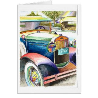 Yester年の車の栄光 グリーティングカード