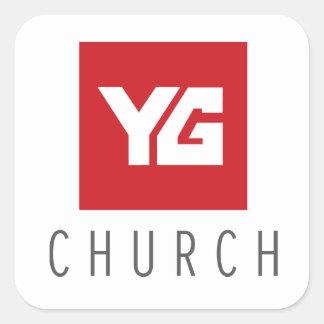 YG教会ステッカー スクエアシール