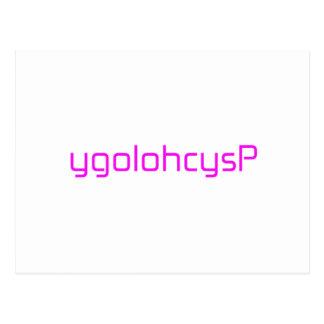 ygolohcysPのオレンジピンクの赤 ポストカード