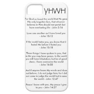 YHWH -ジョンの3:16のジョンの15:12のジョンの15:18のジョンの16:33 iPhone SE/5/5s ケース