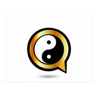 yingおよびヤンとのアルファベットQ ポストカード