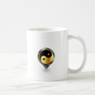 yingおよびヤンの記号を用いる配置 コーヒーマグカップ