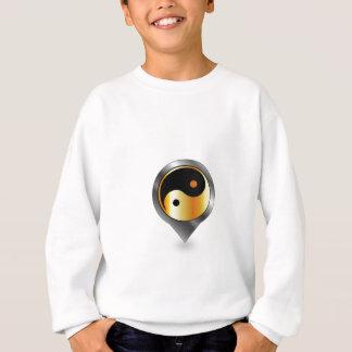 yingおよびヤンの記号を用いる配置 スウェットシャツ