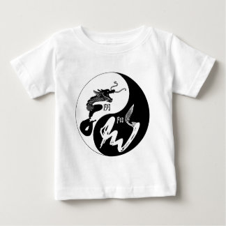 Yingヤンのドラゴン ベビーTシャツ