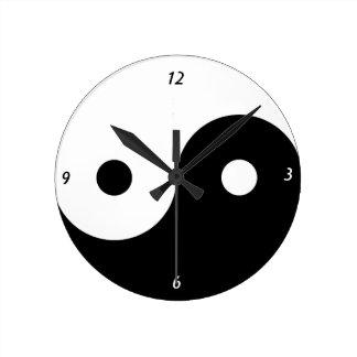 Yingヤンの時計 ラウンド壁時計