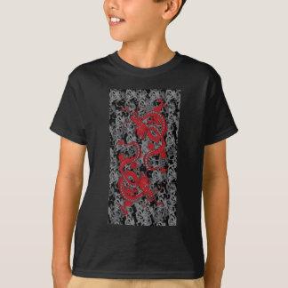 Yingヤンの赤のドラゴン Tシャツ
